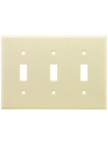 $0.01 - Leviton 3-Gang Wallplate, Toggle/Toggle/Toggle - http://bit.ly/2aTqTW0 - UL Listed and CSA Certified Available in 7 Colors Standard Size Plate