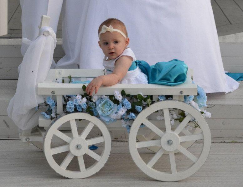 Medium Flower Girl Wedding Wagon Gloss White Or Ivory Etsy Wagon For Wedding Flower Girl Wagon Flower Girl