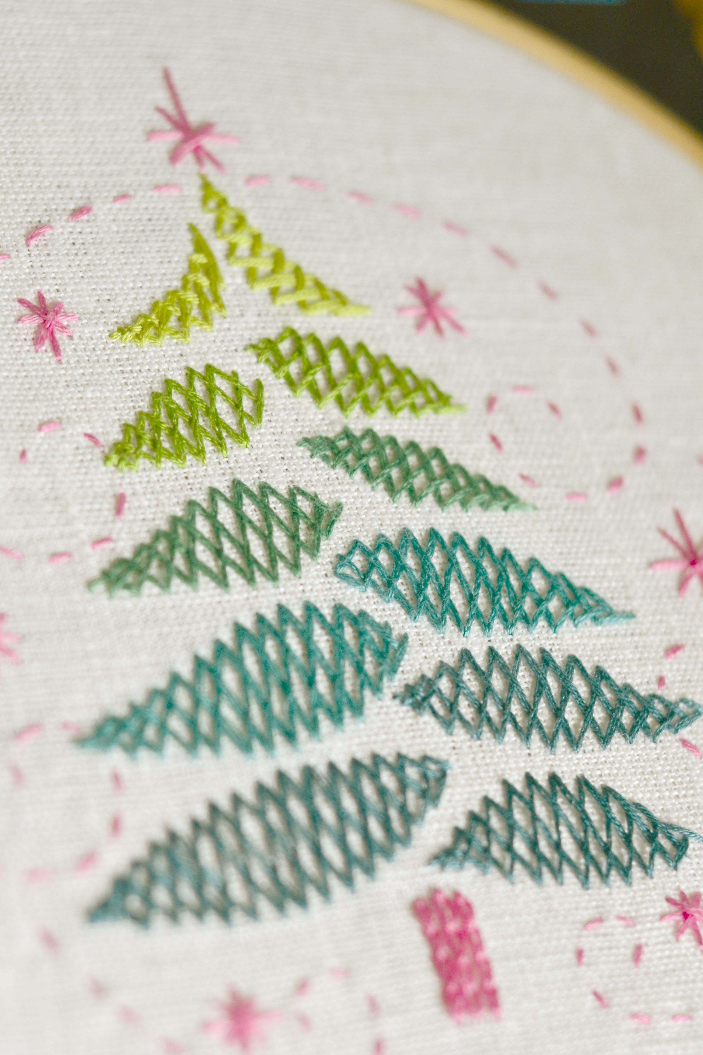 Hand Embroidery Patterns Christmas Tree Pdf Digital Download