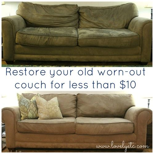 restore your old wornout couch for less than ten dollars