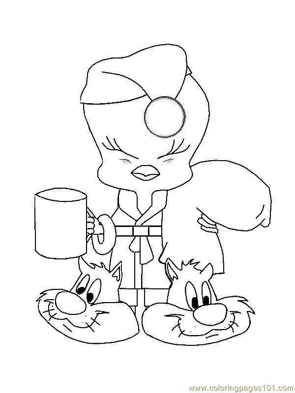 tweety bird coloring pages | Coloring Pages Tweety 65 (Cartoons ... | 800x600