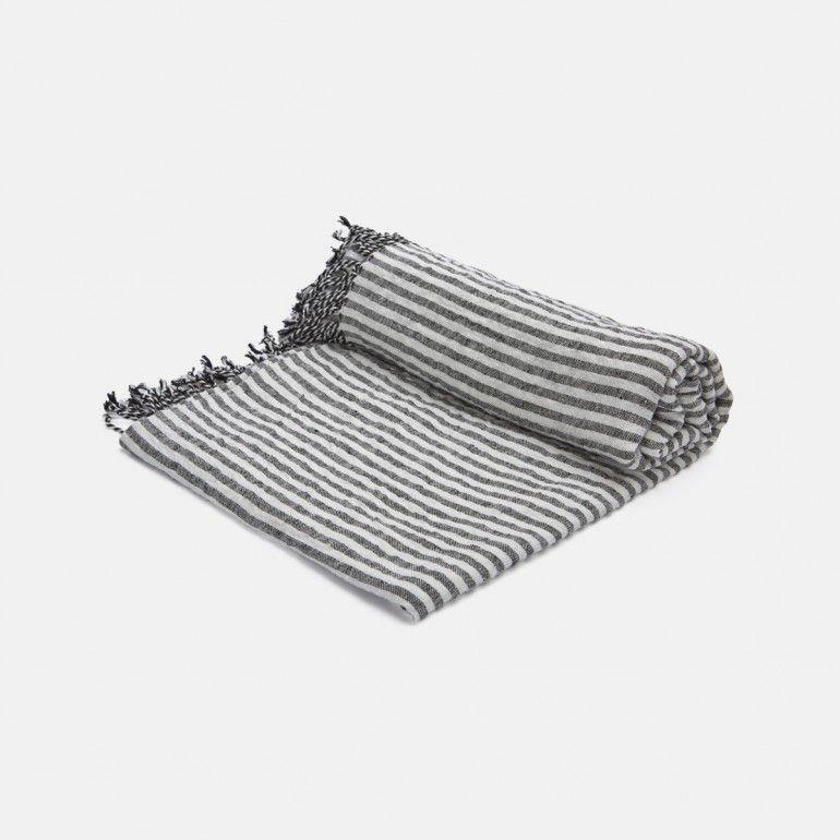 Drap de bain à rayures 200x125 CM - 125€  LA TRESORERIE