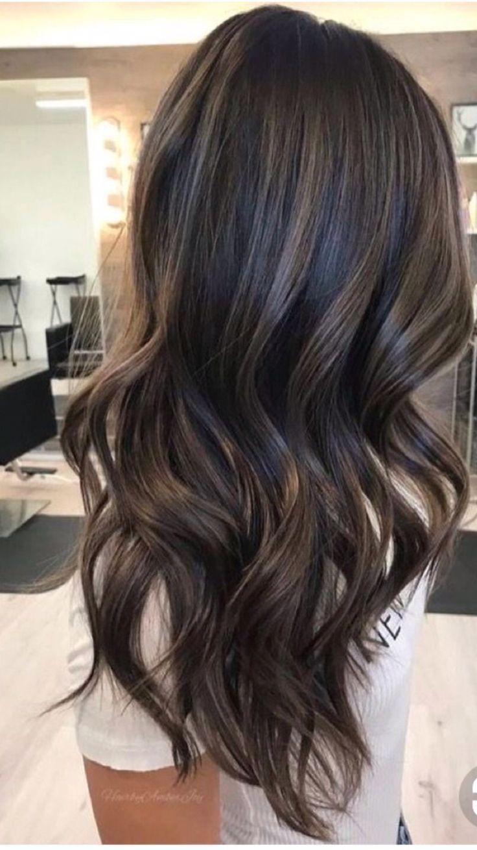 Long waves.  Great dark brunette. Subtle low lights 1