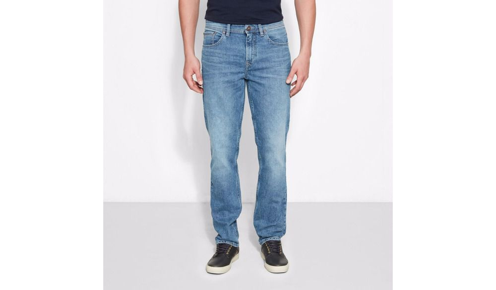 Firetrap Mens Fashion Jeans Straight Regular Fit Vintage Dark Wash 03 Blue Denim