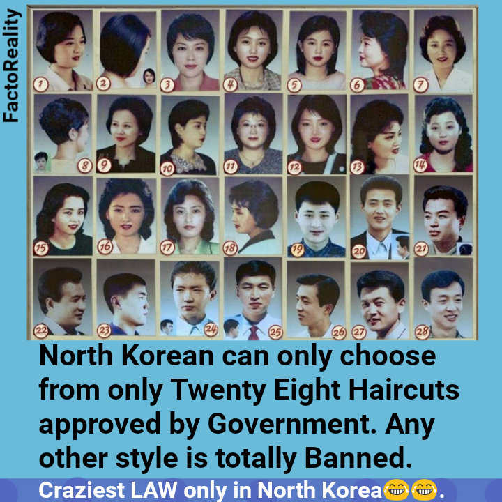 Bad For North Korea People Cant Choose They Own Hair Style