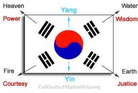 Korean Flag Martial Arts Pin