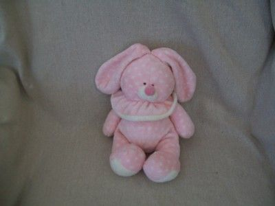 Ty Baby Cuddle Bunny Pink Polka Dots Plush Retired