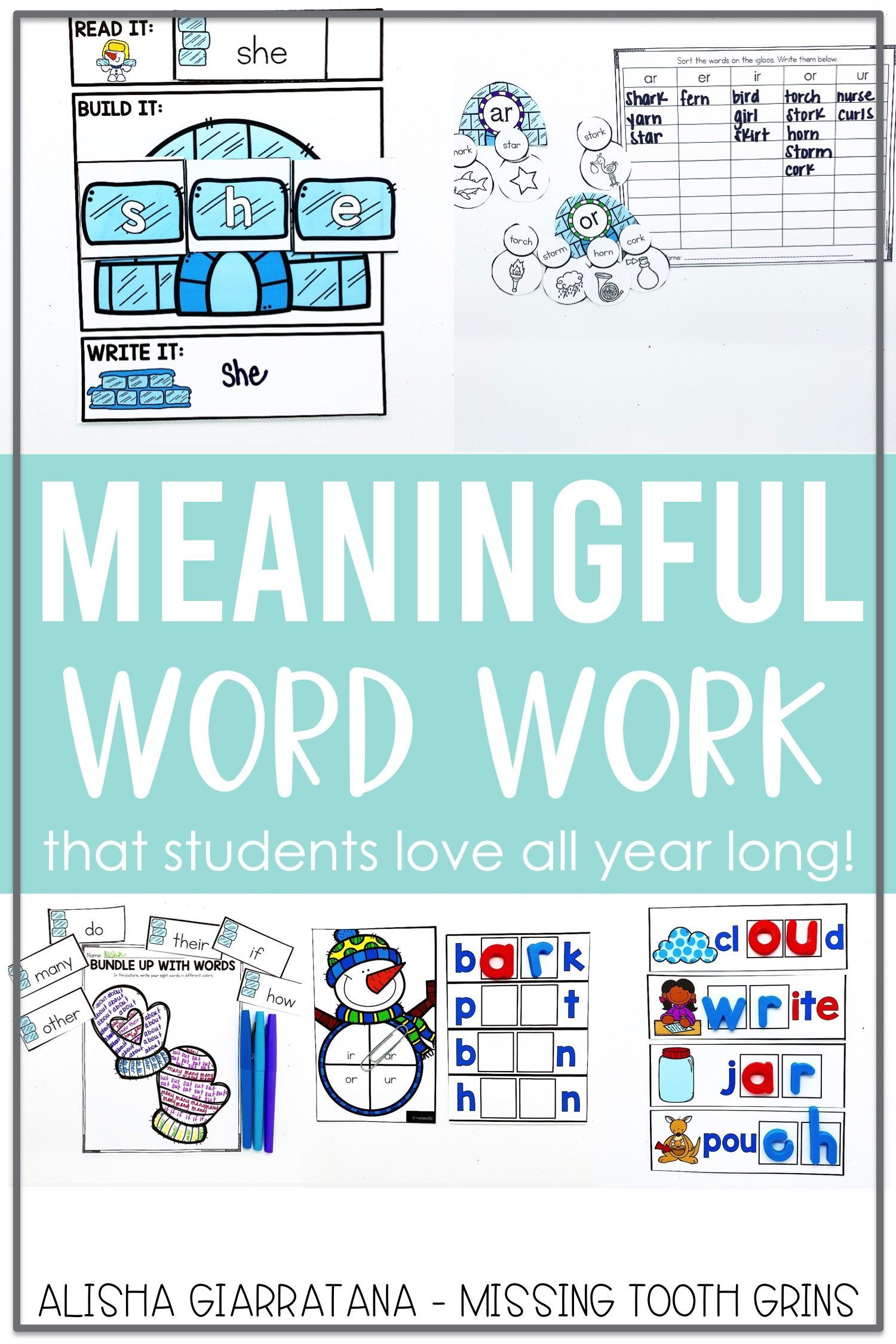 Word Work Center January