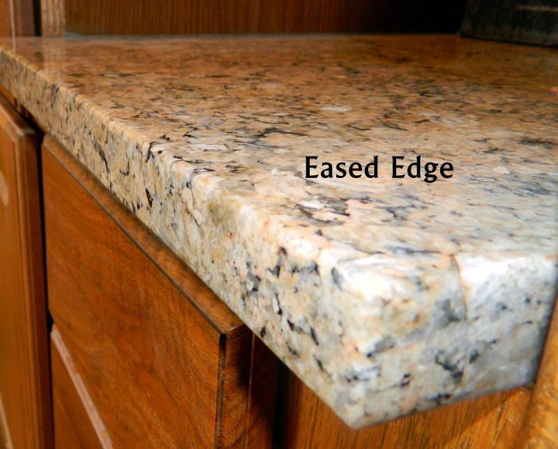 Standard Eased Edge Granite Granite Edges Countertops Edges