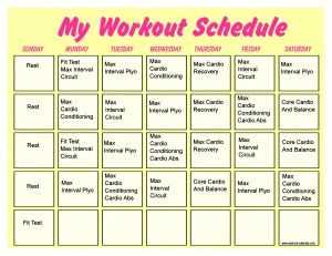 Insanity Month 2 Schedule | Workout | Pinterest | Insanity workout ...