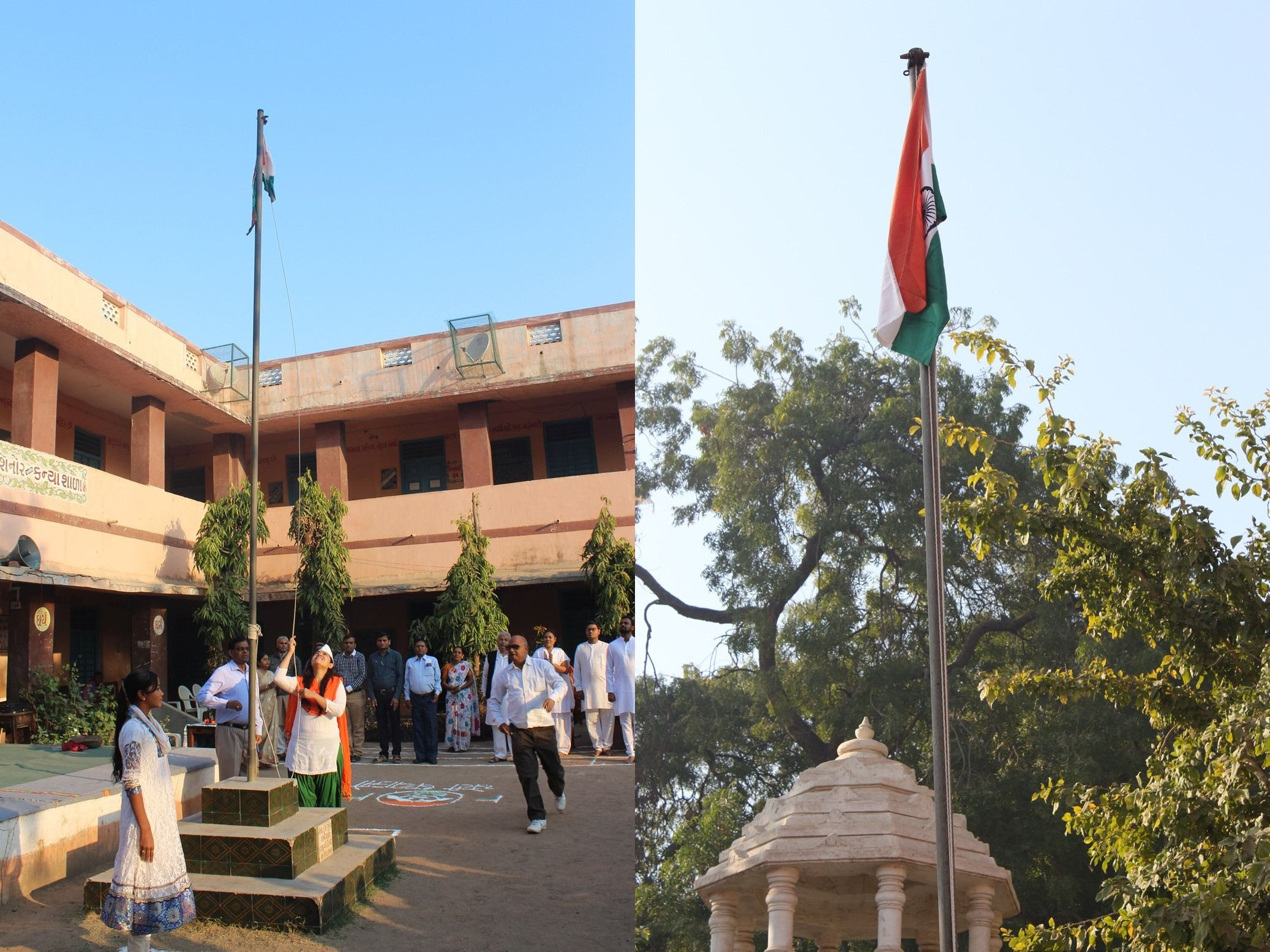 Feelings when I hoisted the Indian flag in my school - Crazy Wanderer