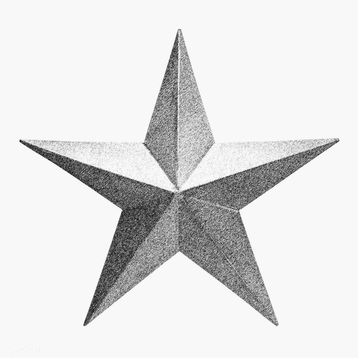Hand Drawn Monotone Star Design Element Free Image By Rawpixel Com Winn Star Designs Design Element How To Draw Hands