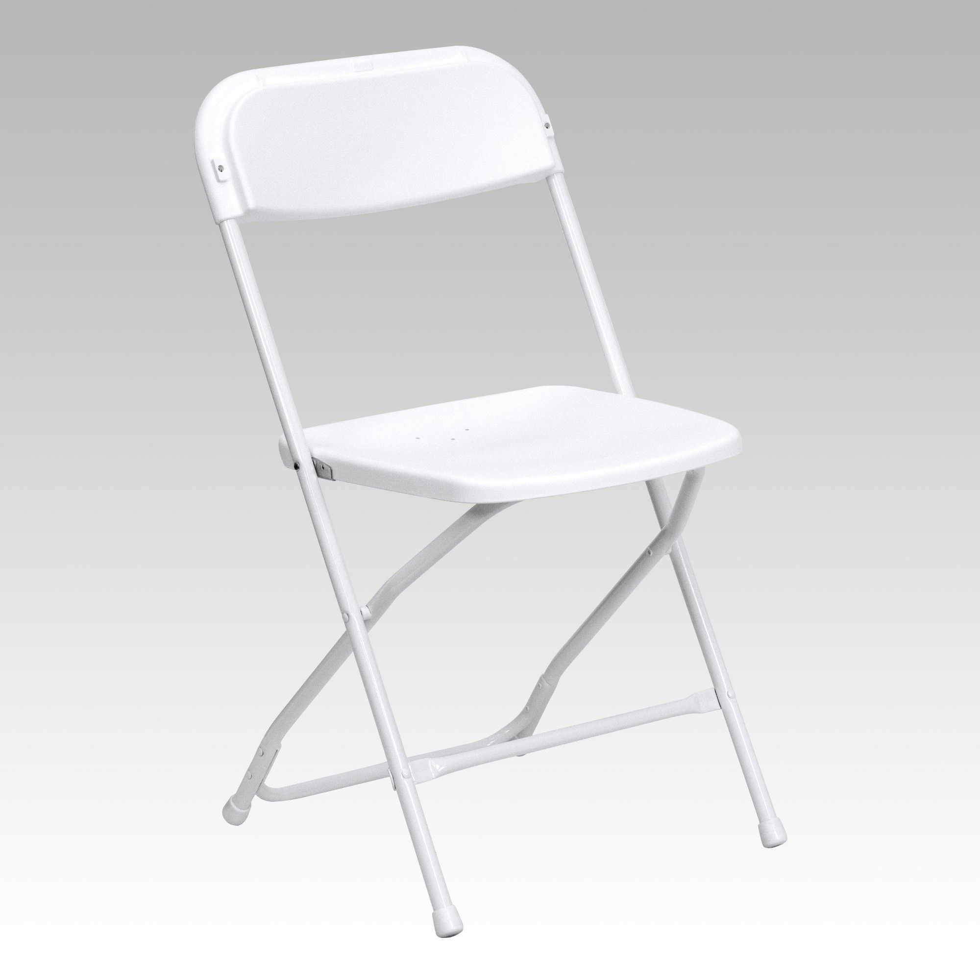Riverstone Furniture Collection Plastic Folding Chair White