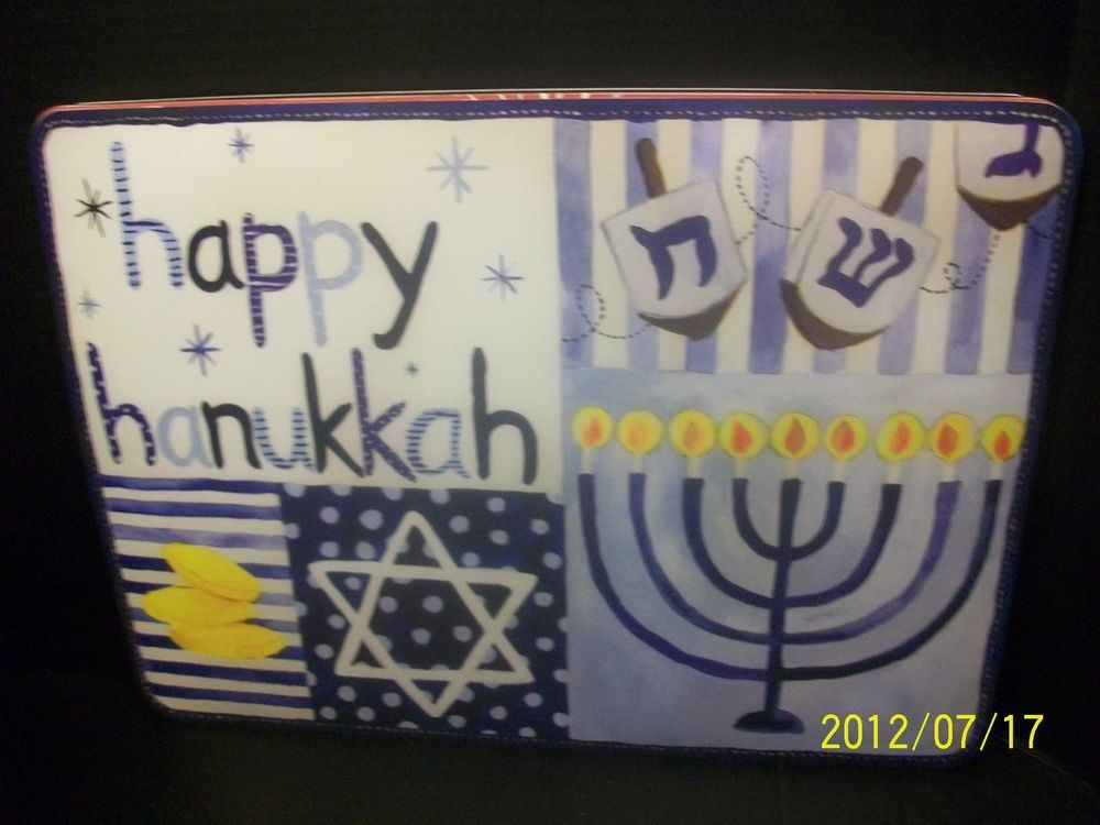Pottery Barn Kids Happy Hanukkah Placemat Holiday Dining