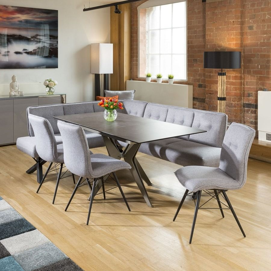 Extending Dining Table Charcaol Ceramic 3 Grey Chairs Corner Bench Grey Dining Tables Corner Dining Bench Ceramic Dining Table