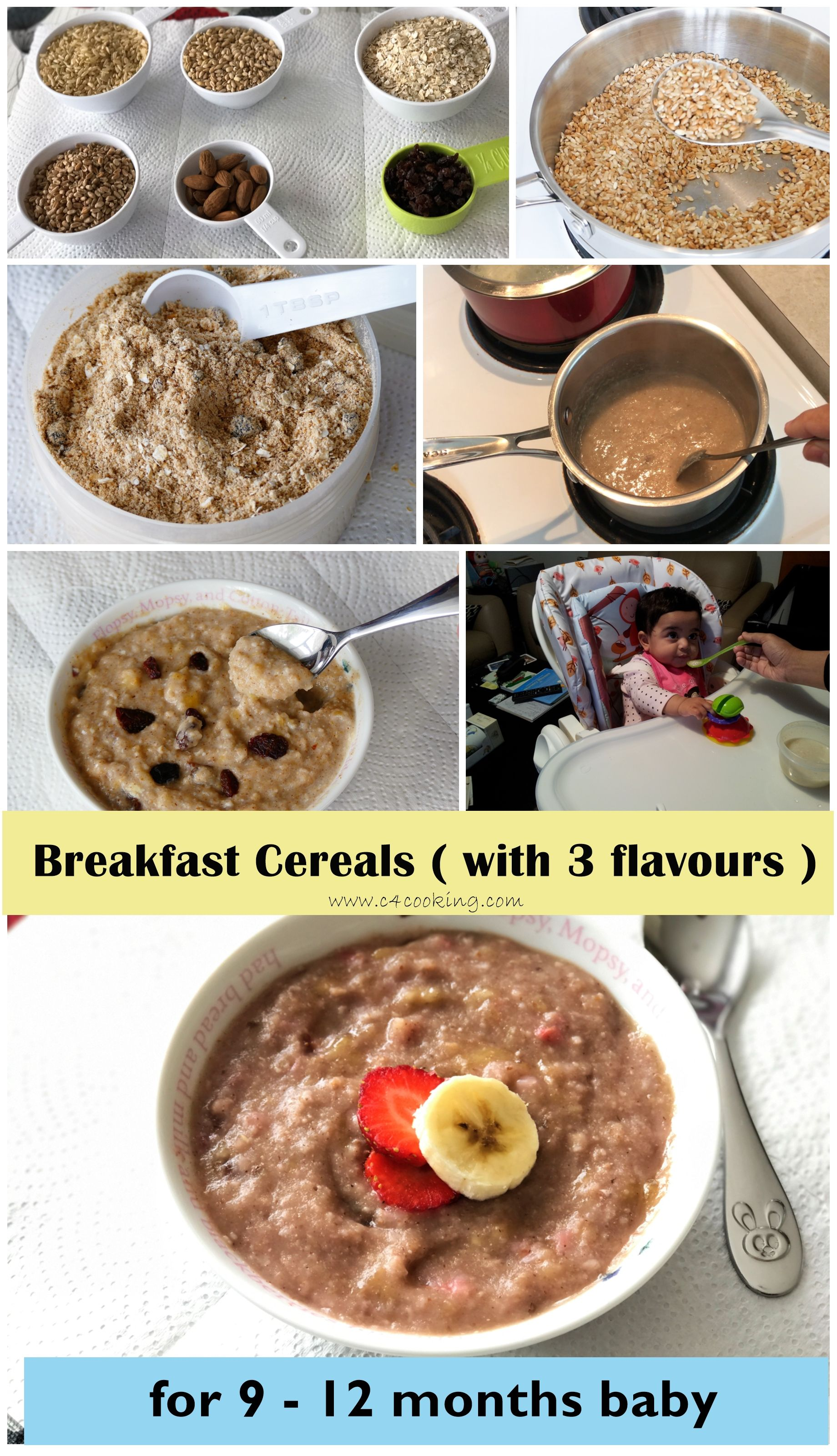 breakfast cereal for 9-12 months baby | kiddie meals | pinterest