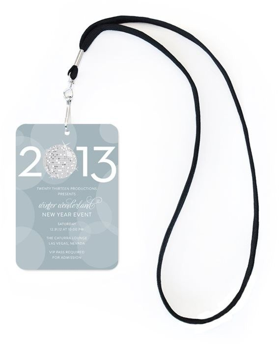 champagne bubbles silver new year vip invitation