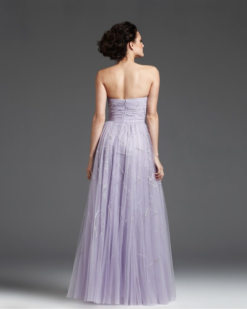 osell wholesale dropship Grenadine Pleated Beading Strapless Sleeveless Floor Length A Line Evening Prom Dress $143.60