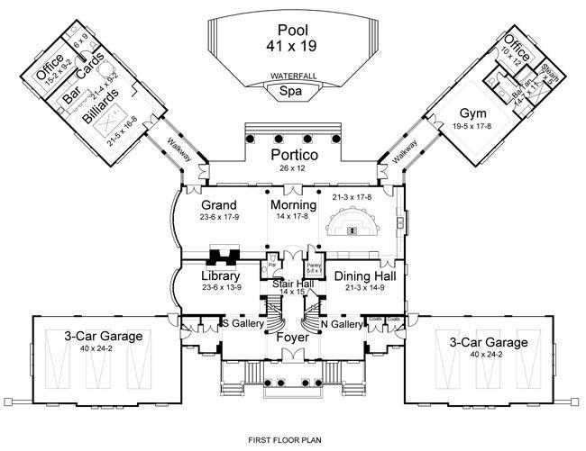 Great gatsby house floor plan