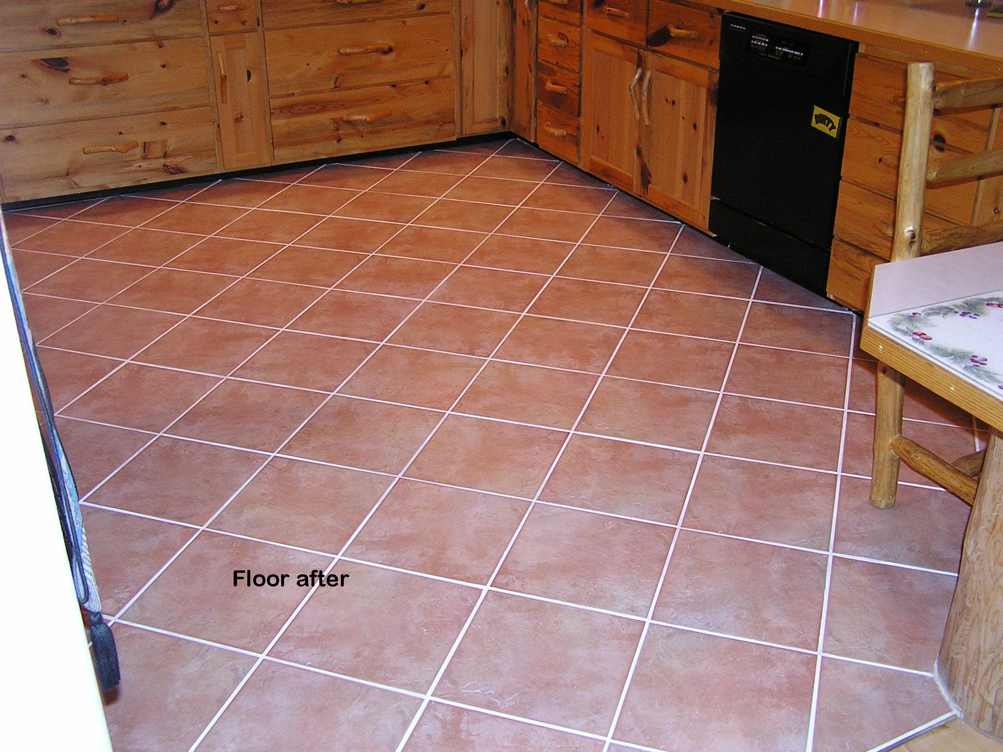 floor looking new again with grout shield our product