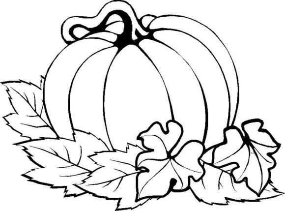 Pumpkin Easy Thanksgiving Coloring Pages Printables - Holidays ...