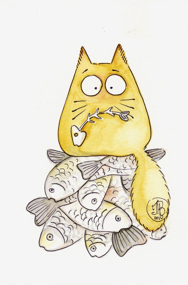 Картинки котов смешных нарисованных, для человека которого
