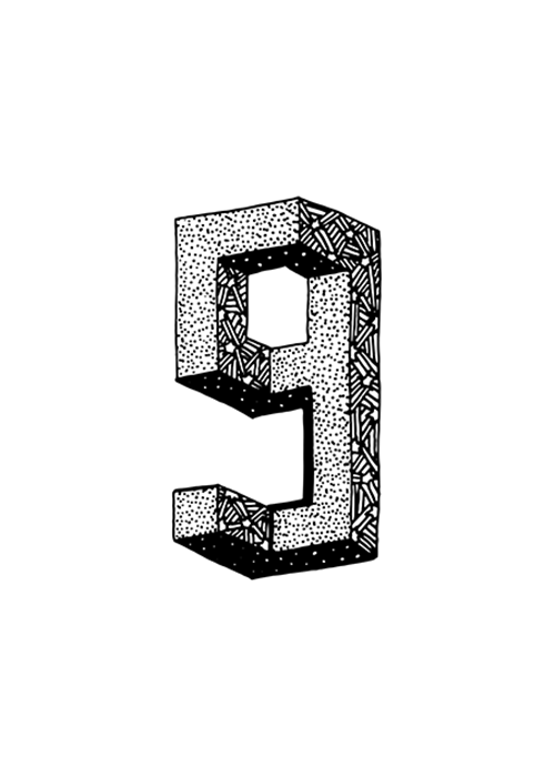 Sofialimasousa Illustration Number Nine 9 Numbers Typography Graphic Design Posters Cool Typography