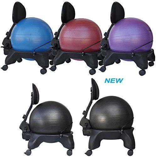 Isokinetics Inc Adjustable Back Exercise Ball Office Chair