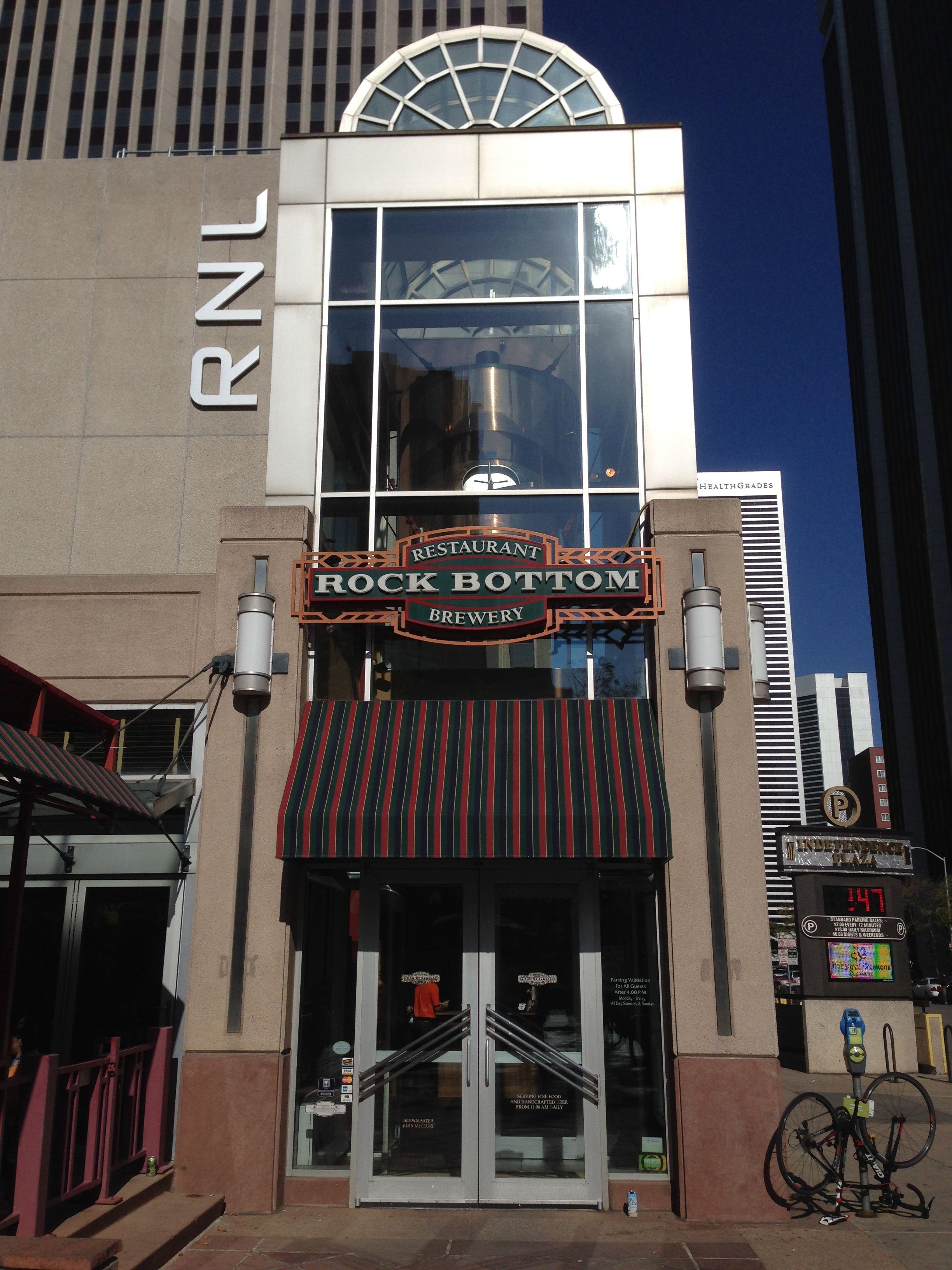 Rock Bottom Brewpub in Denver, Colorado. Where I hit rock bottom!!