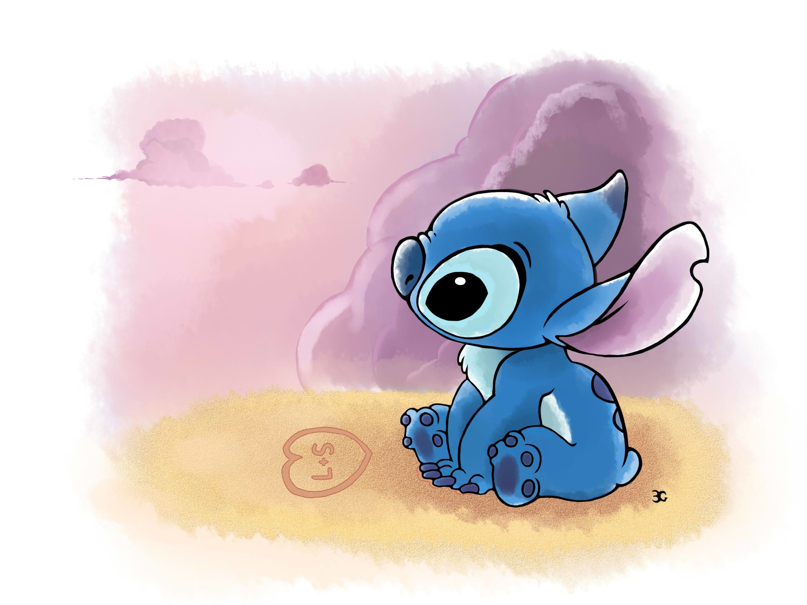 Pin By A People On Stitch Character Wallpaper Stitch Drawing Cute Disney Wallpaper