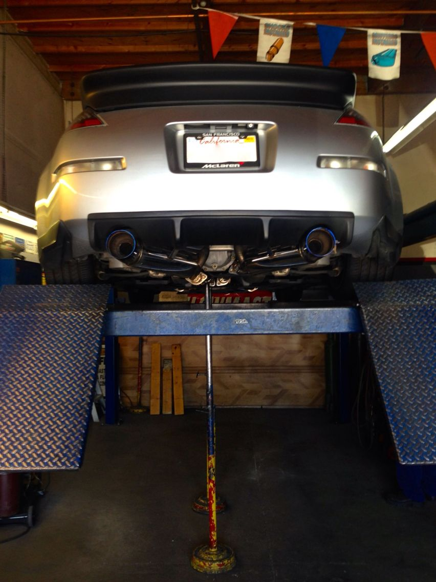 HKS rep exhaust w/ magnaflow X pipe muffler welded in it's the way