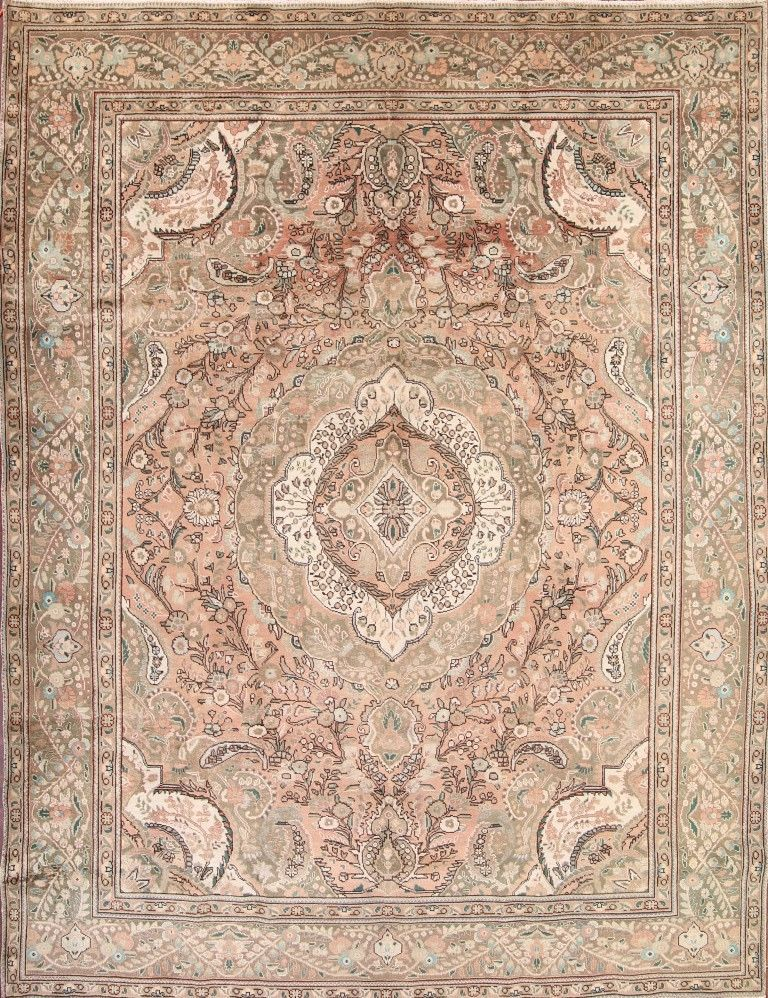 1200 Muted Antique Washed 10x13 Tabriz Persian Area Rug Oriental Carpet 12 9 X
