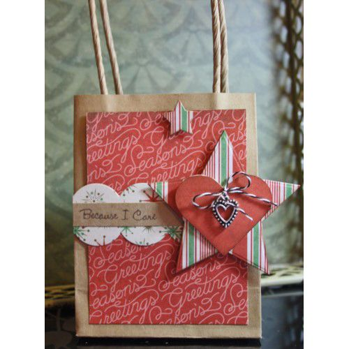 Festive Gift Bag | Tutorials for Adhesives with Scrapbook