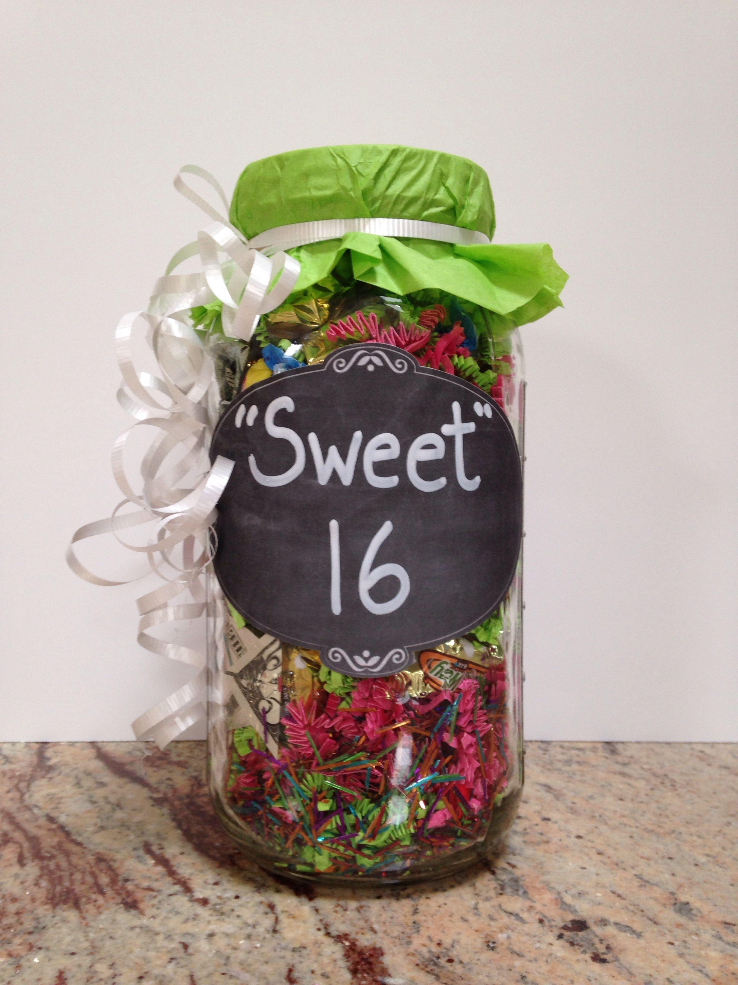 Diy sweet 16 gift sweet 16 gifts gifts money gift