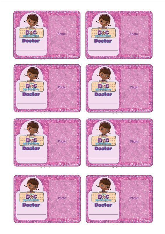 Doc Mcstuffins Doc Id Badge  Doc Mcstuffins Party