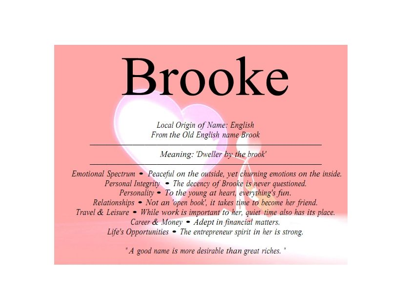 I Know A Girl Her Name S Brooke She S A Great Person I Love Her 3