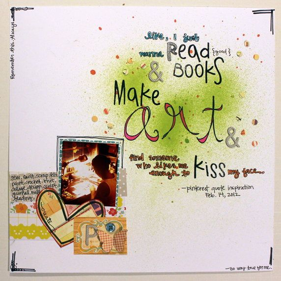 LOVE this page that Pam created for my class, Twelve at bigpictureclasses... (she found the words here @Pinterest
