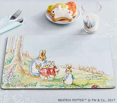 Beatrix Potter Cork Placemat Peter Rabbit Friends