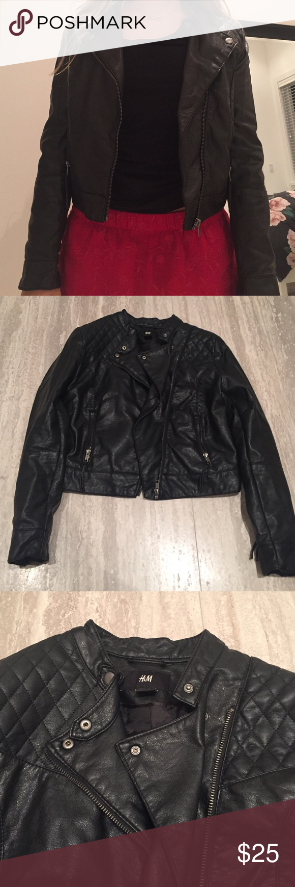 Leather jacket from H&M! Leather jacket, Clothes design