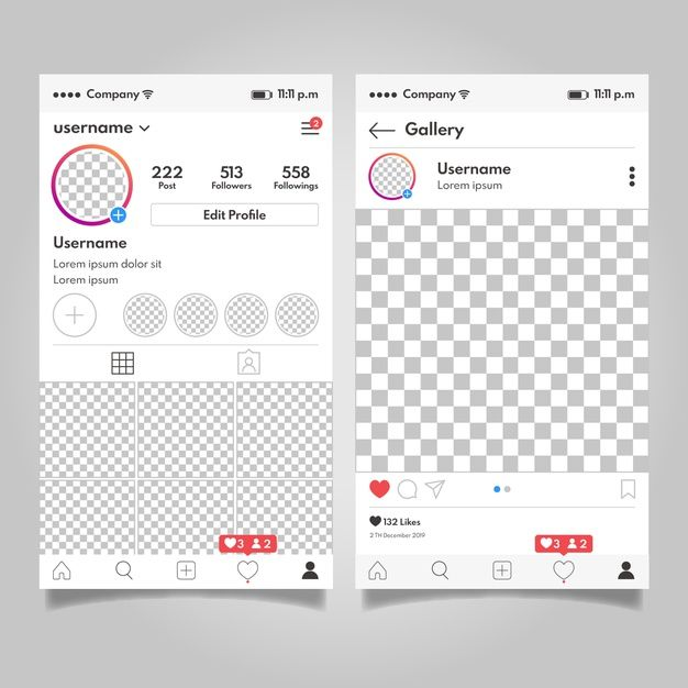 Download Instagram Profile Interface Template Concept for free