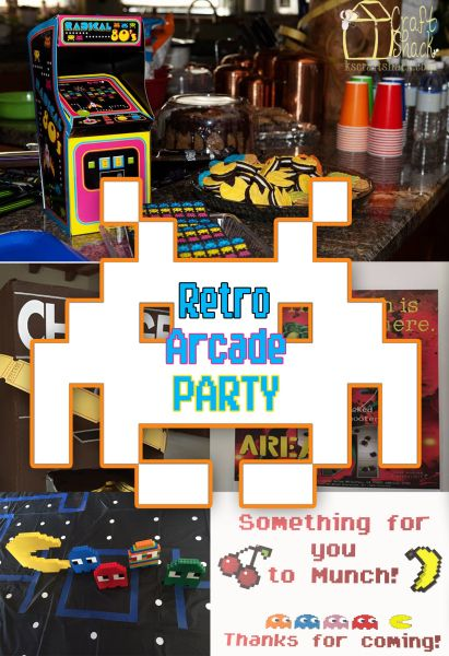 Retro Arcade Party With Free Thank You For Coming Guest