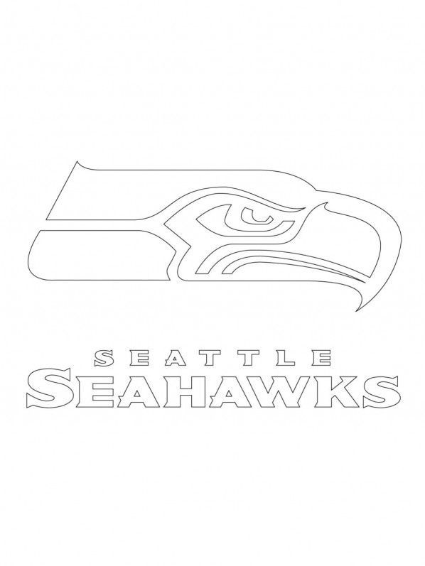 49ers Free Stencil Printable Seattle Seahawks Logo Coloring Seahawks Coloring Sheets