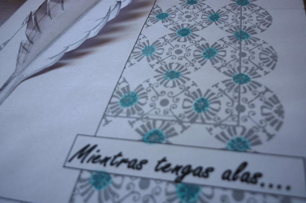 Reto 3 flowers - Tarjeta con pluma