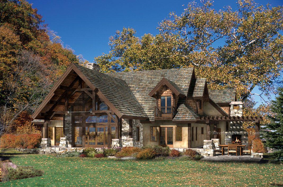 Timber Frame House Plan of Riverbend Timber Framing Elevation ...
