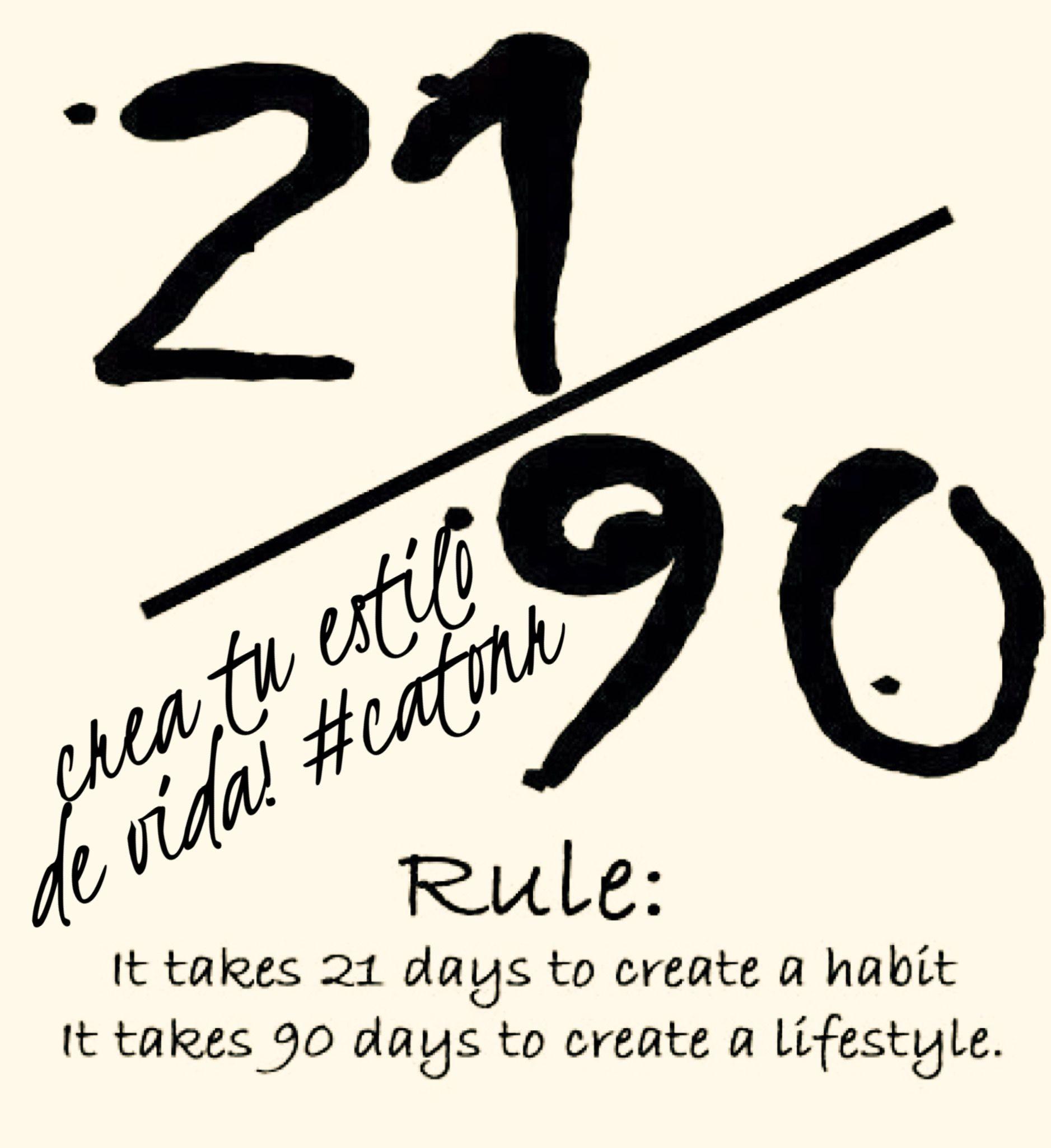 Toma solo 21 días crear un buen #HABITO y 90 DÍAS de #PERSEVERANCIA para crear un estilo de vida! NO PROMETAS HAZLO! #catonr,#todoxinternet,#mentores