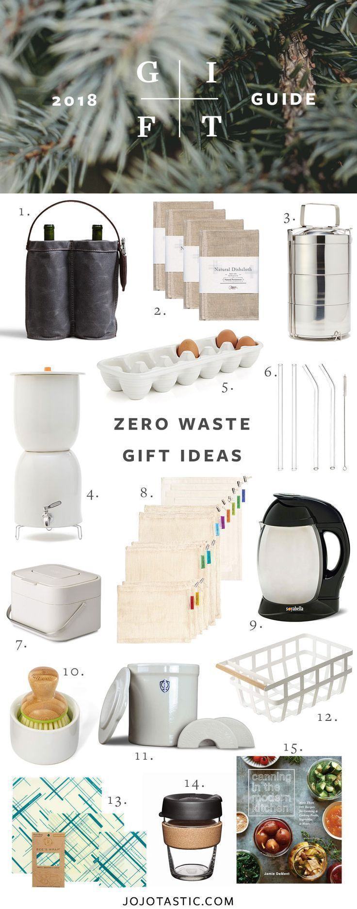 Zero Waste Gift Ideas for the Eco-Conscious | Gift Guide 2018 | Jojotastic