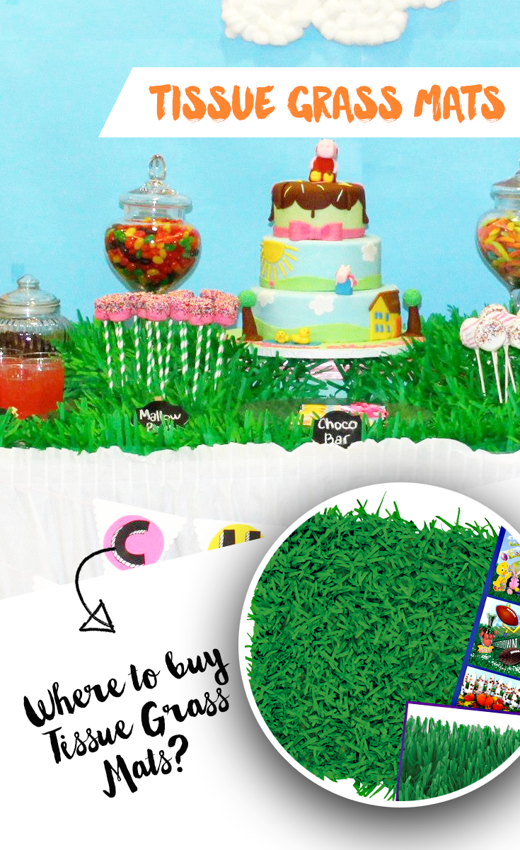Where to buy green grass mats?! Party decorations, Party