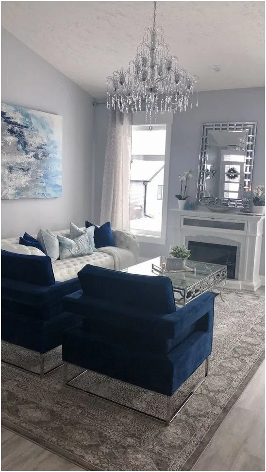 15 Awesome Minimalist Living Room Decor Ideas 1 In 2020 Blue
