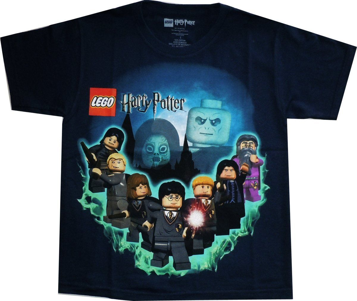Harry Potter Lego: Hogwarts Wizards Navy Youth T Shirt | Lego ...
