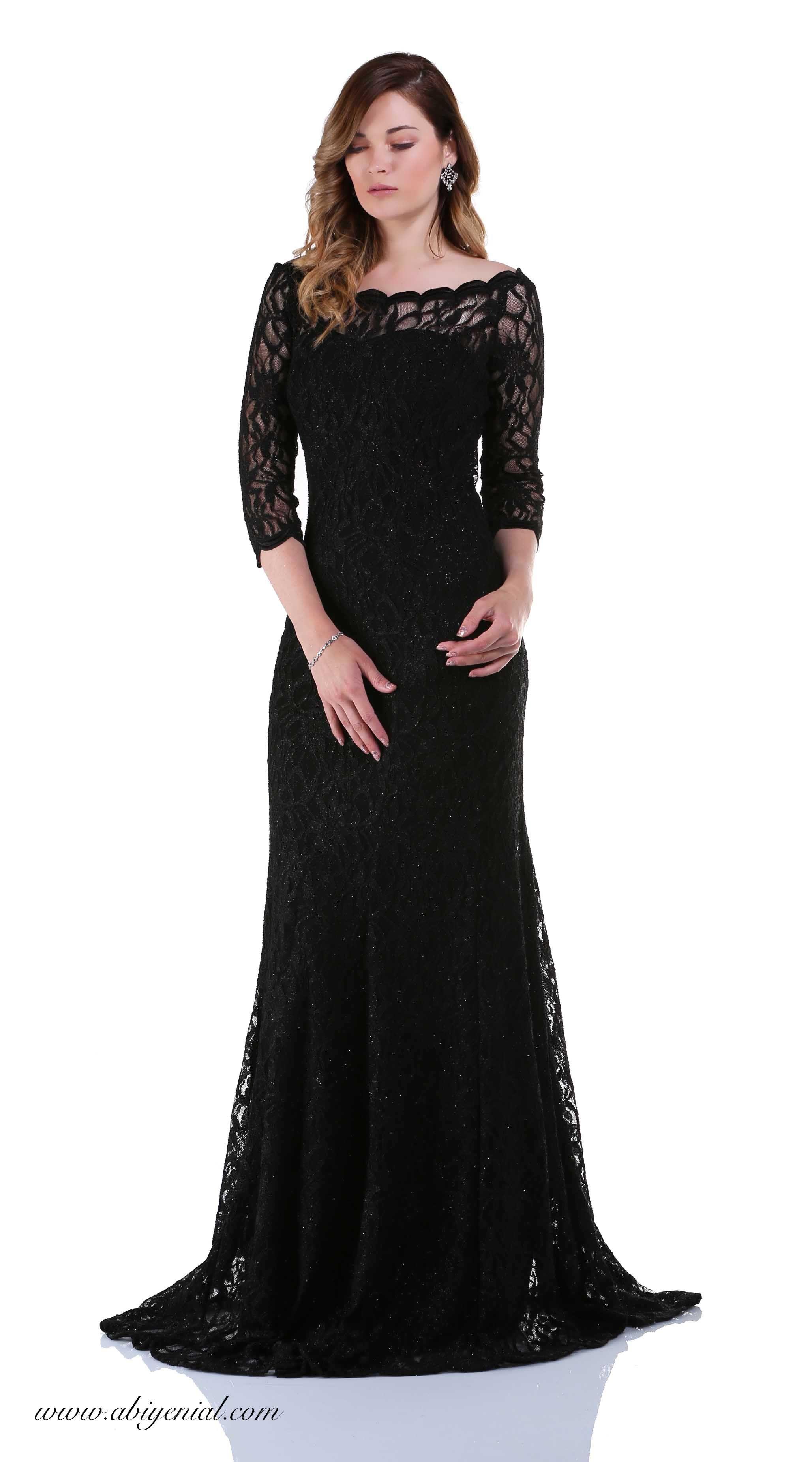 Siyah Uzun Abiye Elbise Dantel Siyah Sade Uzun Abiye Sozelbisesi Black Dresses Eveningdress Aksamustu Giysileri The Dress Elbise